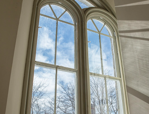 reducing carbon footprint of historic buildings with window inserts