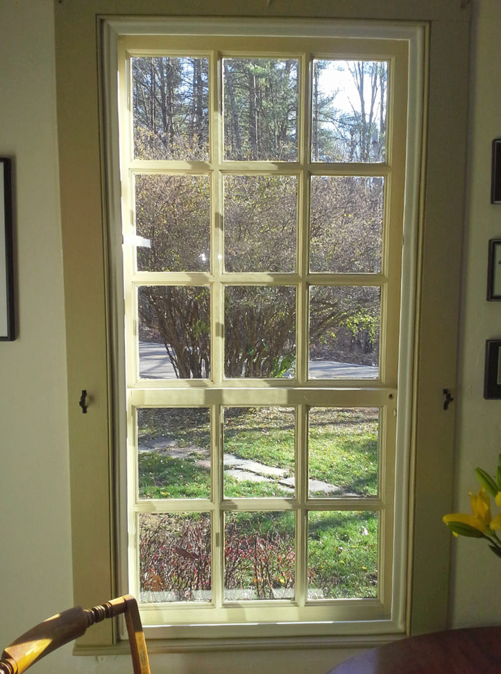 Insulating vintage windows is easy with custom window inserts