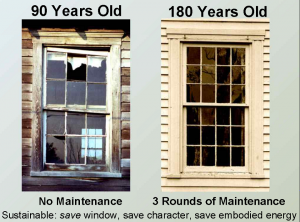 A slide from John Leeke's talk on window preservation
