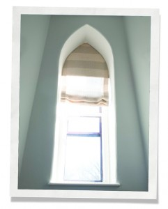 special shaped window insert