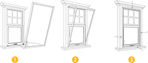 indow window installation diagram