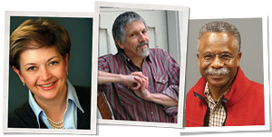 Historic window restoration experts Allison Hardy, Jim Turner, and Gordon Bock