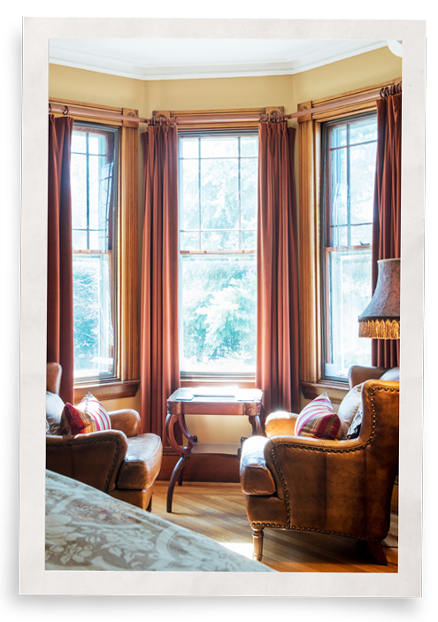 Blocking window heat was critical to the owners of this Victorian B&B.