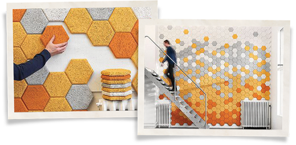 Acoustic panels can help with soundproofing a room