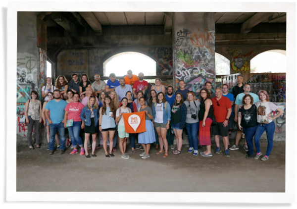 Group of young preservationists who contributed to the Window Zine to show the importance of historic preservation