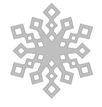 Indow snowflake design 4