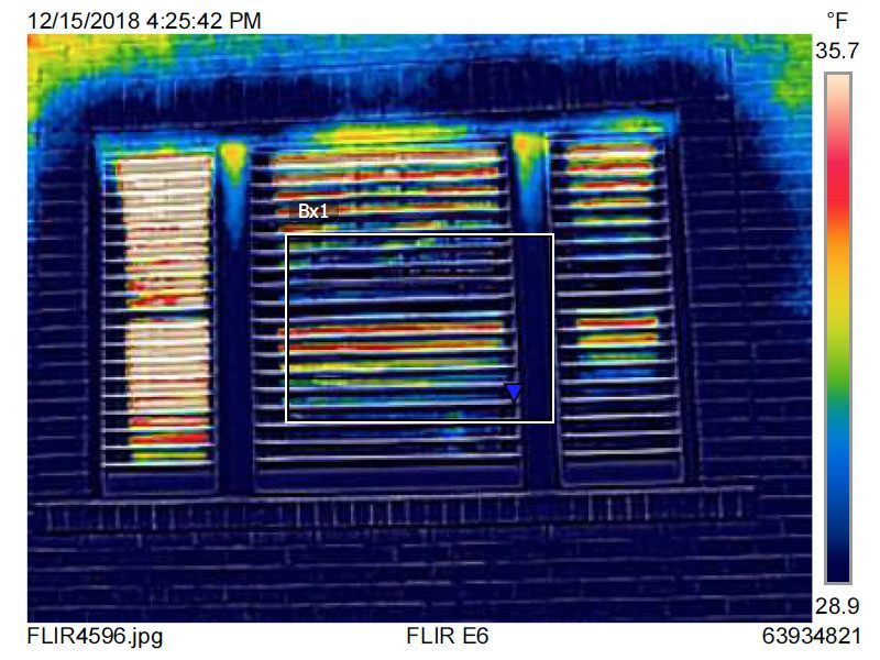 Thermal Image of Indow Window Insert