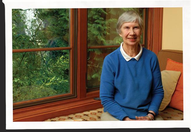 anne next to her drafty window fix, Indow inserts