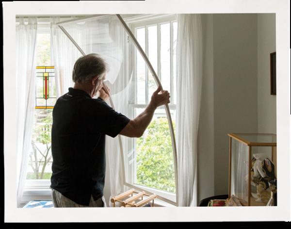 customer installing indow window insert options