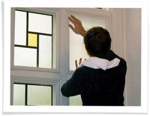 installing indow inserts in church stained glass windows