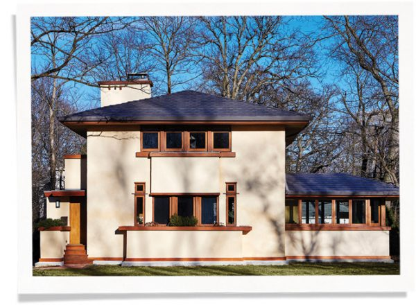 frank lloyd wright house using Indow window inserts