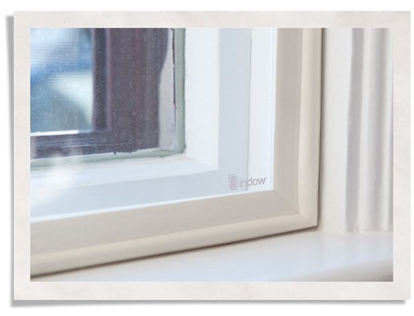 close up of compression seal for windows created by Indow window inserts