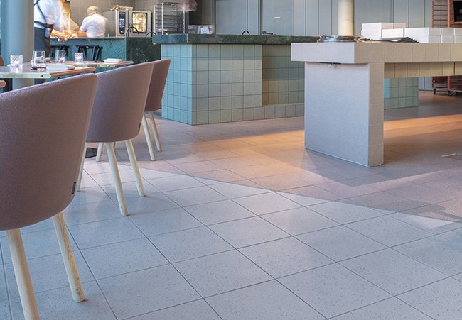 floor tiles used to create separation in hotel - hospitality industry trends