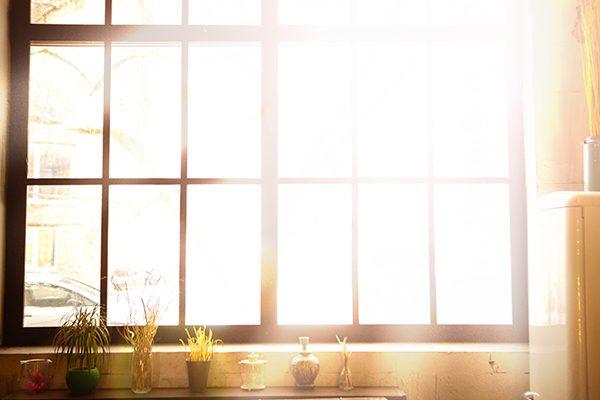 meditation room essentials: natural light coming through window