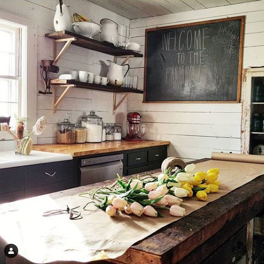 remodeled old farmhouse kitchen