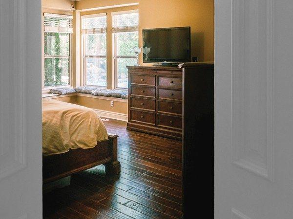 wood floors in bedroom