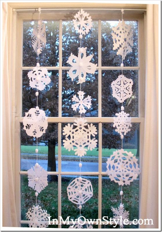 snowflake hanging options window curtain for christmas decor