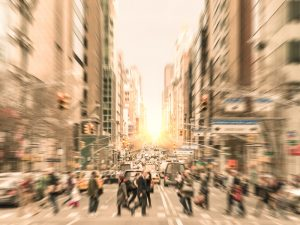 crowded street that causes noise complaints in nyc