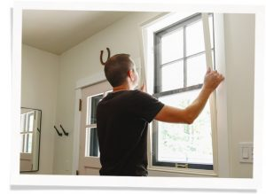 member of contractor discount program installs window insert