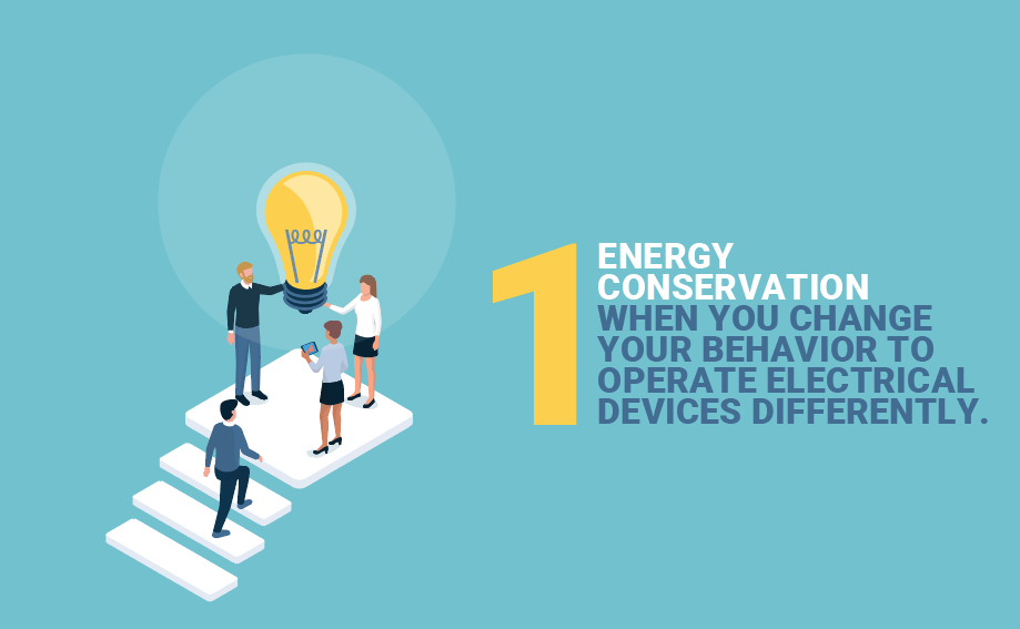 how to reduce your electric bill: energy conservation, when you change your behavior to operate electrical devices differently