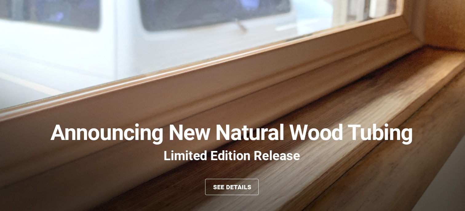 Natural wood tubing color announcement for storm windows