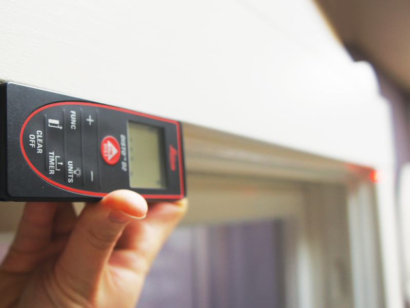 Indow laser measuring device accurately measuring windows for 10 years