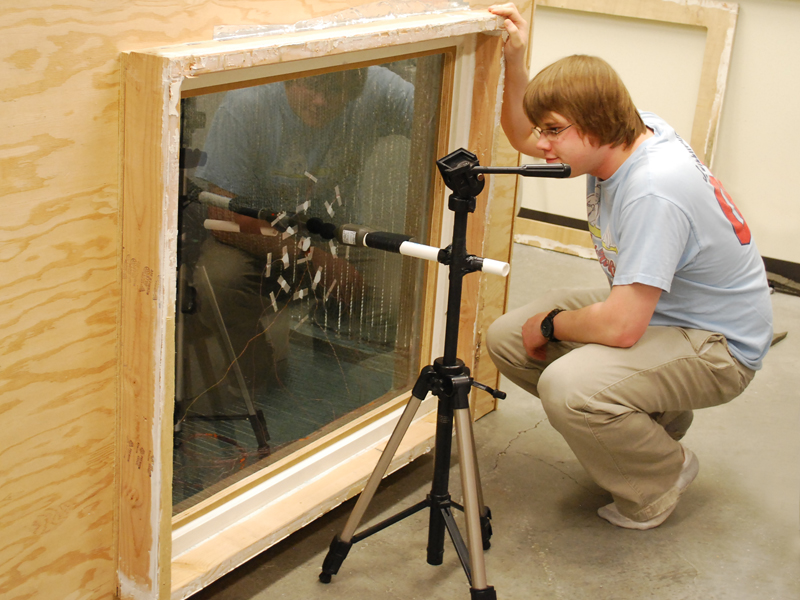Portland State University Green Building Research Lab analyzing Indow window inserts