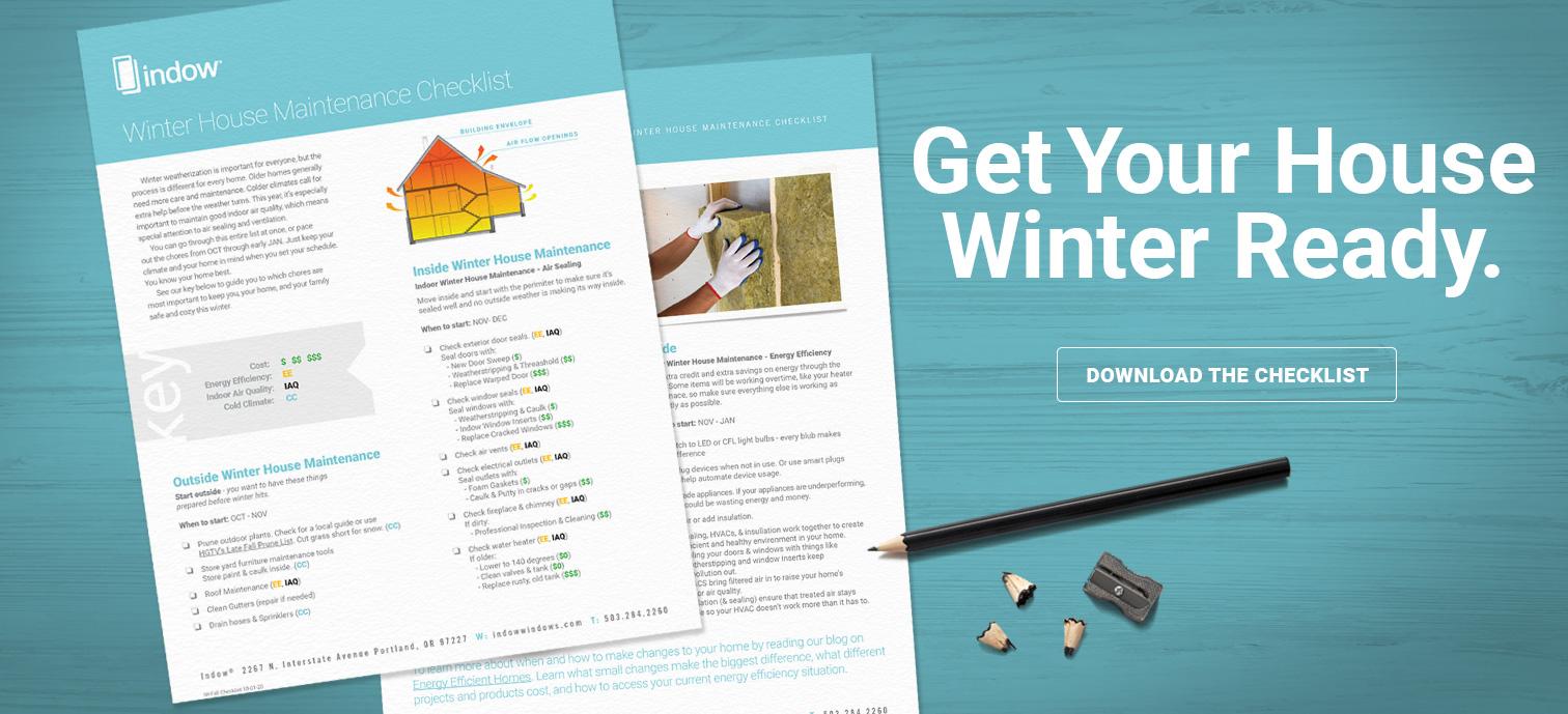 winter weatherization checklist - free download