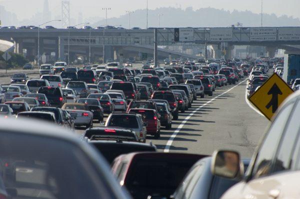 noisy traffic jam needing street noise reduction